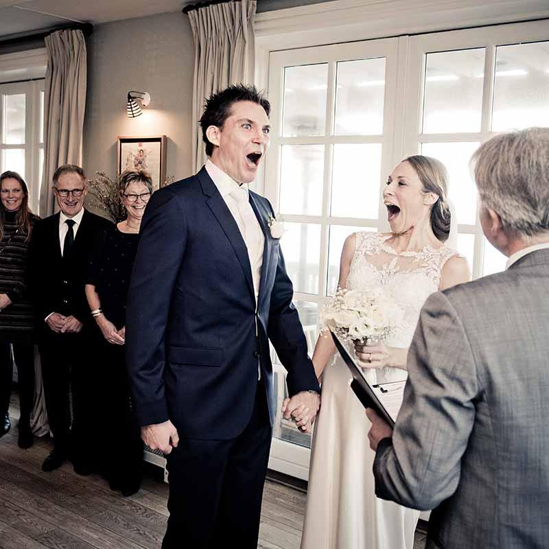 glæden ved et bryllup