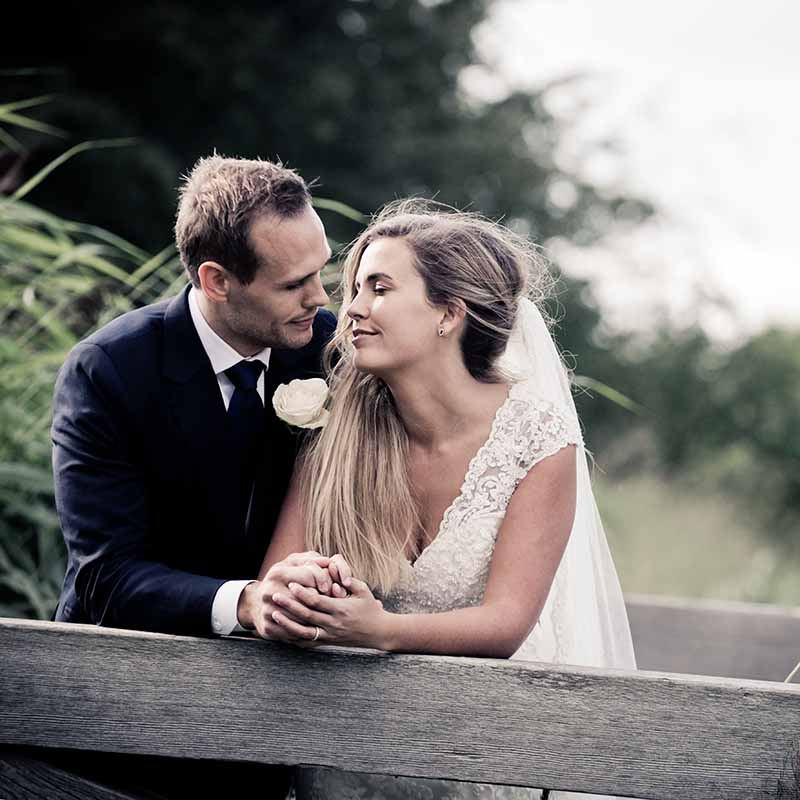 portrætfoto af brudeparret